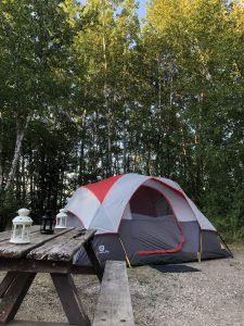 Tent at Whiteshell Provincial Park, Manitoba